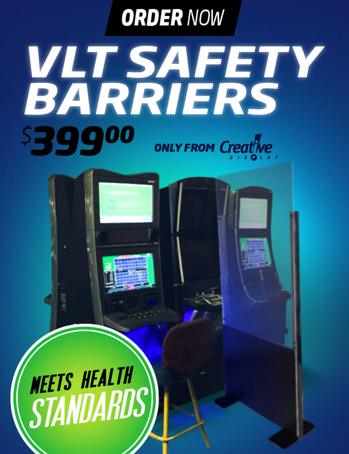 VLT Safety Barrier - Manitoba Gaming Lounge Shield