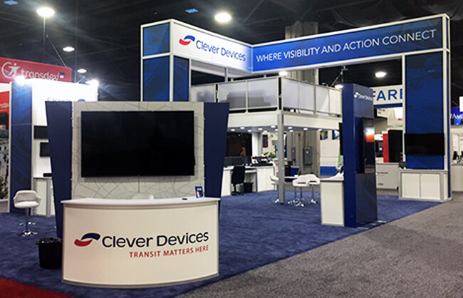 Winnipeg Trade Show Booth - Clever Devices - APTA