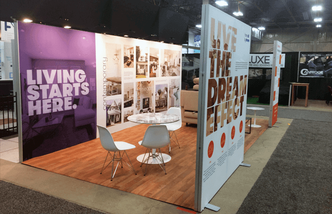 Regina Trade Show Booth - Homes by Dream