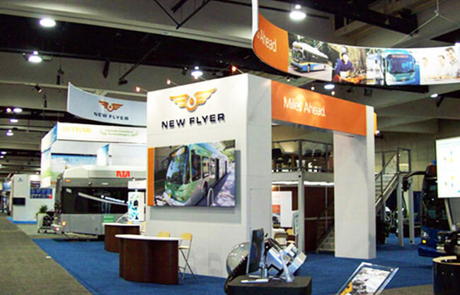 Winnipeg Trade Show Booth - New Flyer Industries