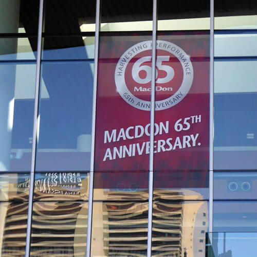 Winnipeg Signage - Macdon Window Perforation